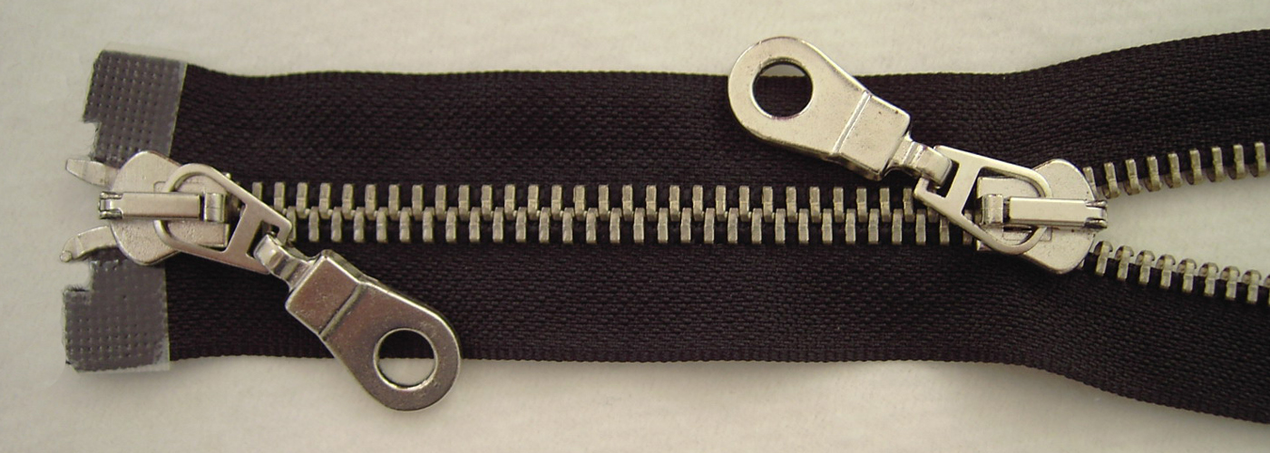 YKK Reißverschluss starker 8 mm 2 Weg teilbar schwarz 75 cm Metall Metallzähne